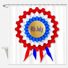 Independence Day Rosette Shower Curtain