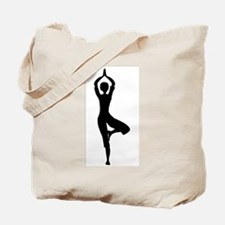 Tree Asana Silhouette Tote Bag