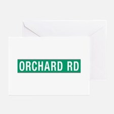 Orchard Rd, Street Sign, Greeting Cards (Pk of 10)