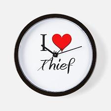 I Love My Thief Wall Clock