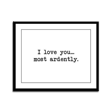 Most Ardently - Mr. Darcy Framed Panel Print