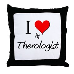 I Love My Therologist Throw Pillow