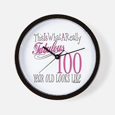 100th Birthday Gift Wall Clock