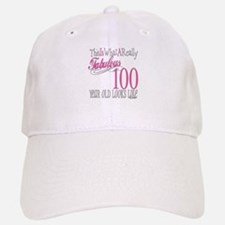 100th Birthday Gift Baseball Baseball Cap