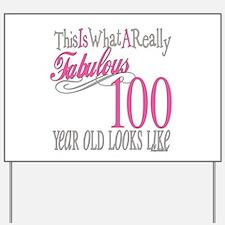 100th Birthday Gift Yard Sign