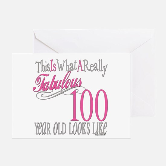 100th Birthday Gift Greeting Card