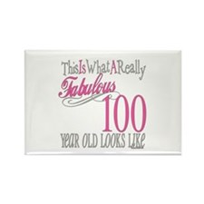 100th Birthday Gift Rectangle Magnet
