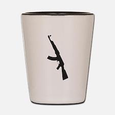 AK47 gun silhouette Shot Glass