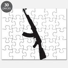 AK47 gun silhouette Puzzle