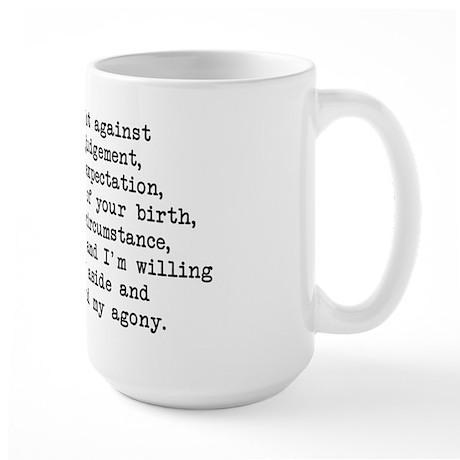 Fought Against Judgement - Darcy Large Mug