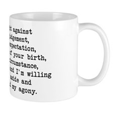 Fought Against Judgement - Darcy Small Small Mug