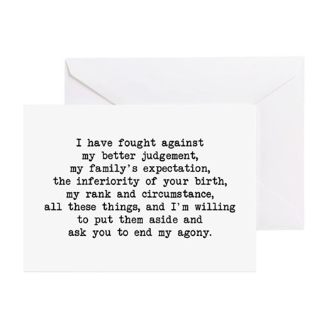 Fought Against Judgement - Darcy Greeting Cards (P