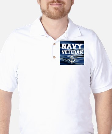 Navy Veteran Golf Shirt