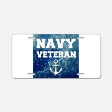 Navy Veteran Aluminum License Plate