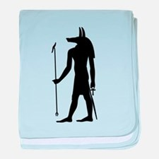 God of ancient Egypt Anubis baby blanket