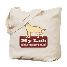 Yellow Lab Therapy - Tote Bag