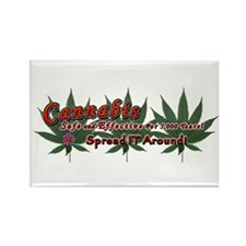 Cannabis Rectangle Magnet