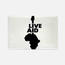 Live aid music art Magnets