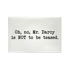Darcy Not to be Teased Rectangle Magnet