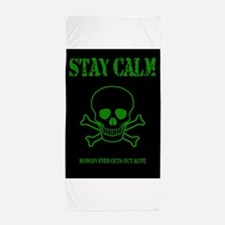 Stay Calm Beach Towel