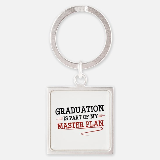 Part Of My Master Plan Square Keychain
