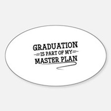 Part Of My Master Plan Sticker (Oval)