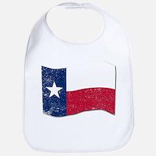 Waving Texas State Flag. Bib