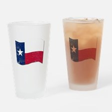 Waving Texas State Flag. Drinking Glass