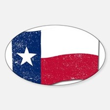 Waving Texas State Flag. Decal