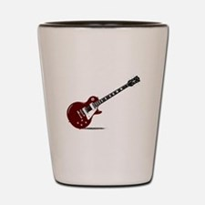 Isolated Rock Guitar Shot Glass