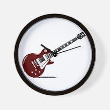 Isolated Rock Guitar Wall Clock