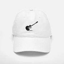 Half Tone Electric Guitar Baseball Baseball Cap