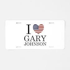 I Love Gary Johnson Aluminum License Plate