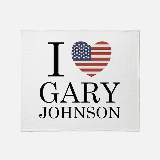 I Love Gary Johnson Stadium Blanket