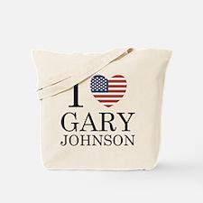 I Love Gary Johnson Tote Bag