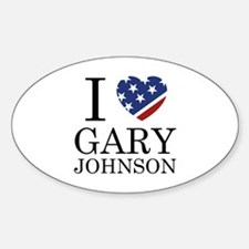 I Love Gary Johnson Decal