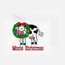 Xmas Cow Greeting Card