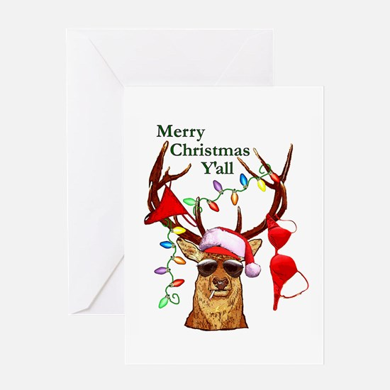 Christmas Bubba Deer Greeting Card