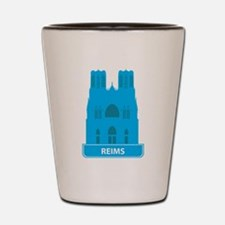 National landmark Reims silhouette Shot Glass
