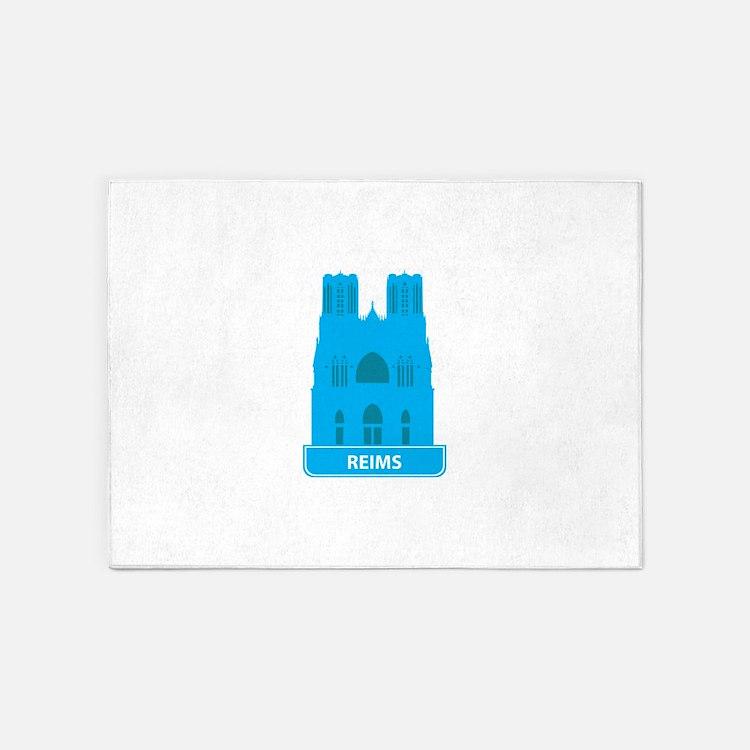 National landmark Reims silhouette 5'x7'Area Rug
