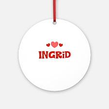 Ingrid Ornament (Round)