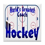 World's Greatest Hockey Coach Tile Coaster