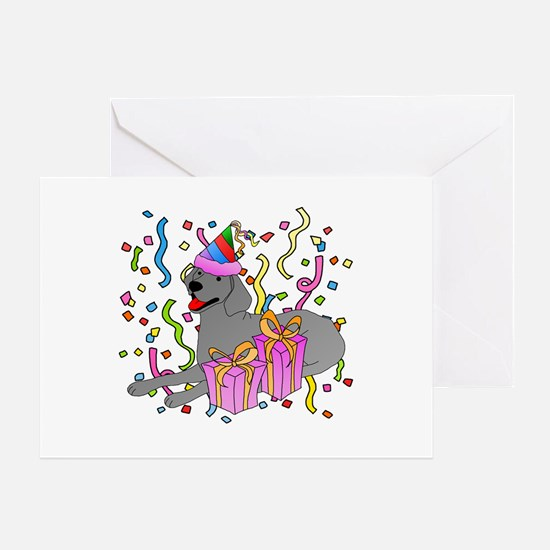 Weimaraner Party Greeting Card