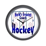 World's Greatest Hockey Coach Wall Clock