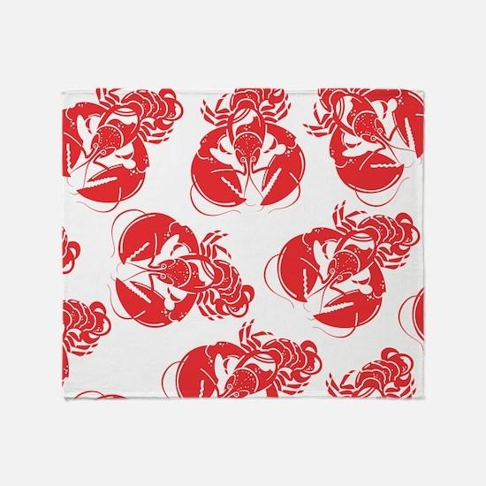 lobster print Throw Blanket