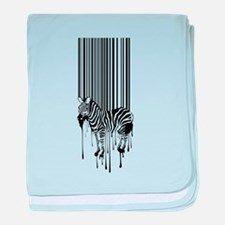 Barcode zebra background baby blanket