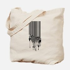Barcode zebra background Tote Bag