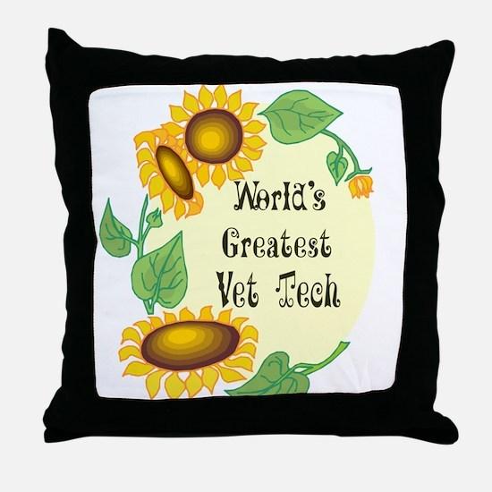 World's Greatest Vet Tech Throw Pillow