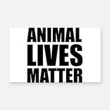 Animal Lives Matter Rectangle Car Magnet