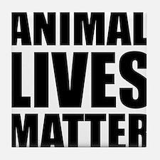 Animal Lives Matter Tile Coaster